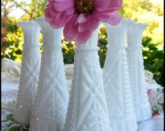 Vintage Milk Glass Bud Vase Collection