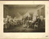 Digital Print, Declaration of Independence, Philadelphia, Robot Art, American History, Philadelphia print, Alternate Histories, Geekery