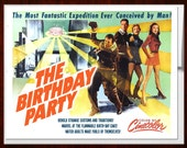 Birthday Card, b movie poster, Birthday Cards,1950s, Scifi art, Retro Card, Birthday Cake, Birthday, Space Age, alternate histories, geekery