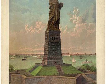 Statue of Liberty, Digital Print, New York City, Aliens, geekery, Martian, alternate histories, steampunk, New York Skyline