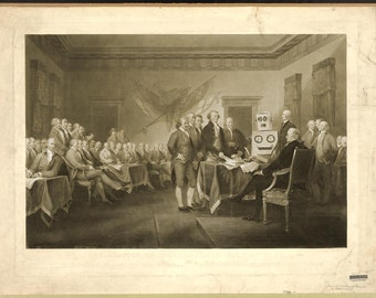 Digital Print, Declaration of Independence, Philadelphia, Robot Art, American History, Philadelphia print, Alternate Histories, Geekery