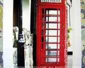 Red Telephone Box in Co. Antrim ... Irish photo card .