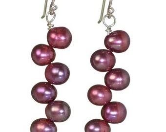 Cascading Fresh Water Pearl Earrings