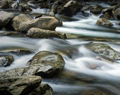 Mountain Stream with Rocks and flowing Water in the Great Smoky Mountain National Park in Tennessee No.555 - A Fine Art River Photograph