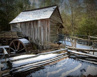 John Cable Mill in Cade's Cove in the Great Smoky Mountain National Park in Tennessee No.5502 - A Fine Art Appalachia Landscape Photograph