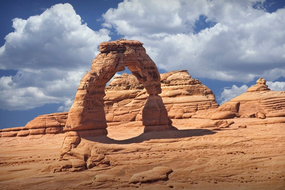 The Delicate Arch in Arches National Park in Utah No.0823 - A Fine Art Geological Western Landscape Photograph