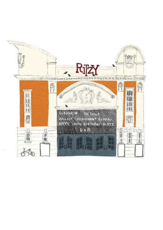 The Ritzy Cinema Archival A6 Print