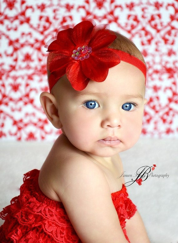 Miugle Baby Red Headbands Rhinestone Hair Bows Girls Hair Band Turban Head Wraps. by Miugle. $ $ 7 99 Prime. FREE Shipping on eligible orders. out of 5 stars Product Features This headband's Color is red,so beautiful for every day baby headdress Hudson Baby Baby Girls' Headband, 5 Pack.
