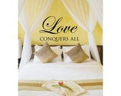 Love Conquers All Bedroom Wall Decal