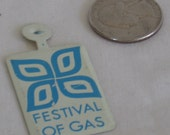 Vintage NY World's Fair 1964-1965 Festival of Gas Tin Souviner Pin  Bathroom Art