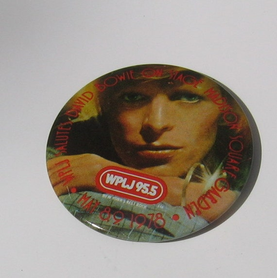 Vintage Bowie Rock Concert Pin David Bowie By Wolfmansmummy