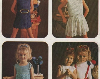Vintage 70's Couture Crochet Designs for Girls