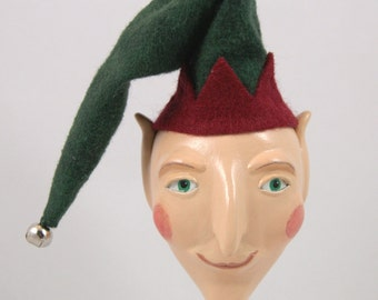Elf Jester Art Doll Ornament - On Sale