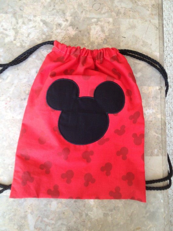 disney drawstring backpack by twigsandstitches on etsy