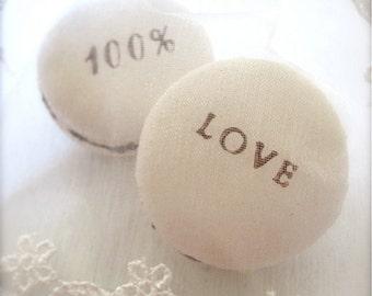 Handmade Lovely Gift - 100% Love Ceramic Macarons Sachet Fragrance Object, Essential Oil Diffuser, Air Freshener