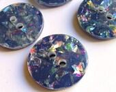 Set of 9 Confetti Buttons Vintage