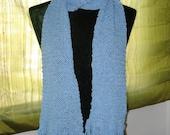 Sky Blue Handmade Scarf.