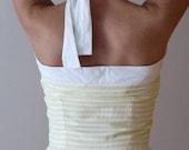 vintage lemon stripe dress