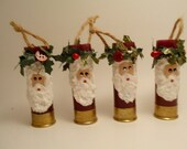 Reserved Listing for annadurden Shotgun Shell Ornament Santa