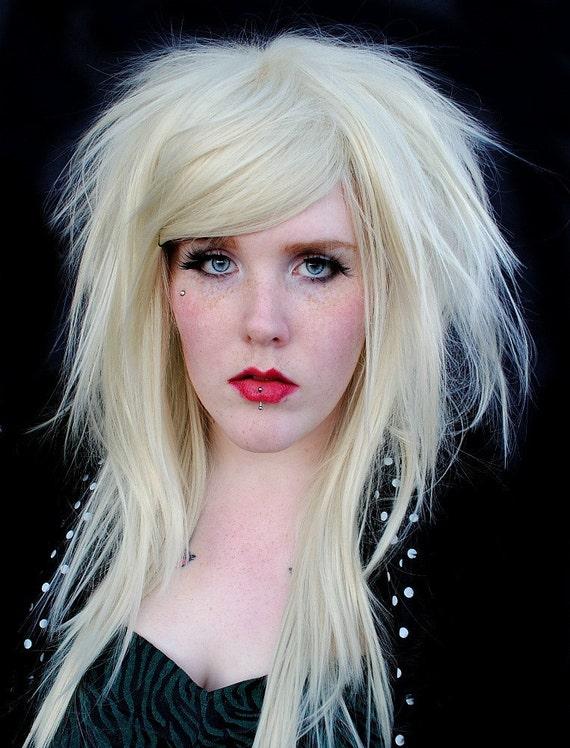 Wig Kitten Scene Hipster Hair Platinum Blonde Straight