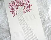 Ketubah - Fuchsia Tree of...