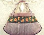 purse with vintage flowery braids