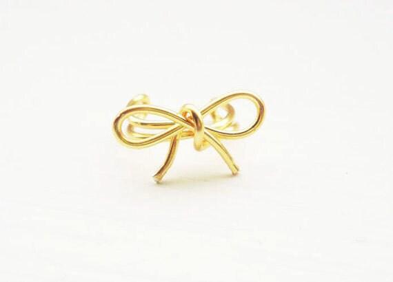 Ear Cuff Gold Bow Dainty Ear Wrap Earcuff