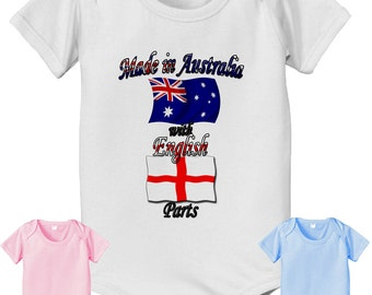 short sleeve and long sleeve Long Sleeve and Short Sleeve Made in Australia with English Parts baby infant bodysuit