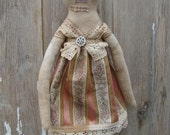 Handmade Primitive Doll Shabby Chic  Doll  Vintage Style - Miss Pearl