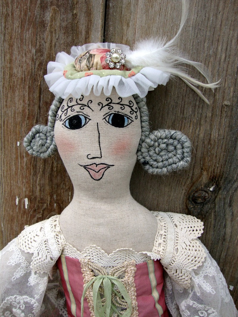 Sale shabby chic art doll vintage style french by tatteredmoon - Shabby chic decor for sale ...