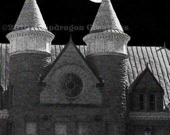 Moonlit Turrets 5x7 Digital Art Print