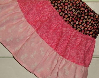 Adjustable waist girl's tiered skirt size 4