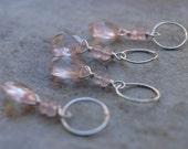 Rose Quartz Briolette Charm- Create Your Own Charm Necklace