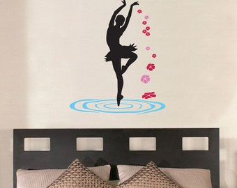 Dancing on the water wall decal