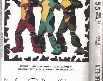 Battletoad Costume Pattern  Kids size 5 and 6 Uncut  McCalls 6155