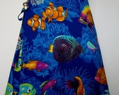 Wrap Around Skirt - Underwater Scene