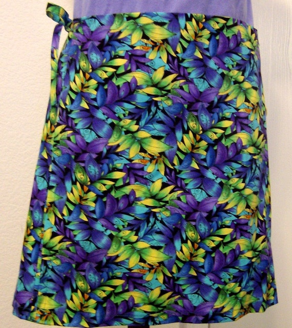 Wrap Around Skirt - Multi Colored Leaves