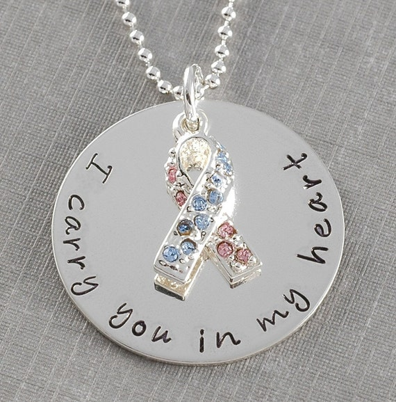 I carry you in my heart  REMEMBRANCE necklace - personalized