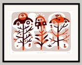 Copse and Robbers by Lo Cole - Limited edition archival pigment ink print