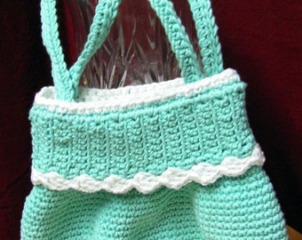 Girls Spring and Summer Aqua Purse and Hat Set - FREE SHIPPING