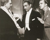 Vintage Movie Still Photo Print - John Barrymore - Dinner At Eight - Lee Tracy  - 8 x 10