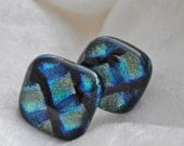 Cuff Links Fused Glass Cuff Links Geometric Dichroic