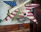 Primitive American Flag Star Bed Spring Make Do- Made to order