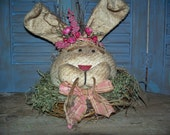 Primitive Spring Time Rabbit - MADE TO ORDER