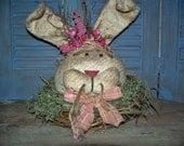 Primitive Spring Time Rabbit - MADE TO ORDER