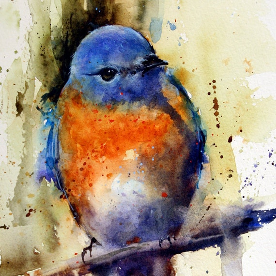 "EASTERN BLUEBIRD 8 x 10"" Ceramic Tile by Dean Crouser"