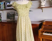 1930s Lettie Lee Hollywood Couture Springtime GownXS