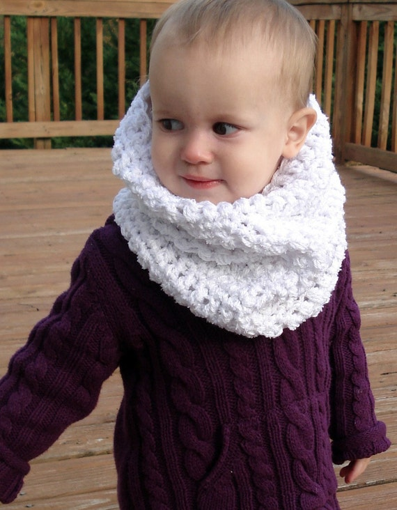 Crochet Pattern Baby Cowl : Snow Baby Cowl Crochet Pattern by AnaidDesigns on Etsy
