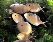 Large Upcycled 1800's Antique Silver spoon fish wind chime