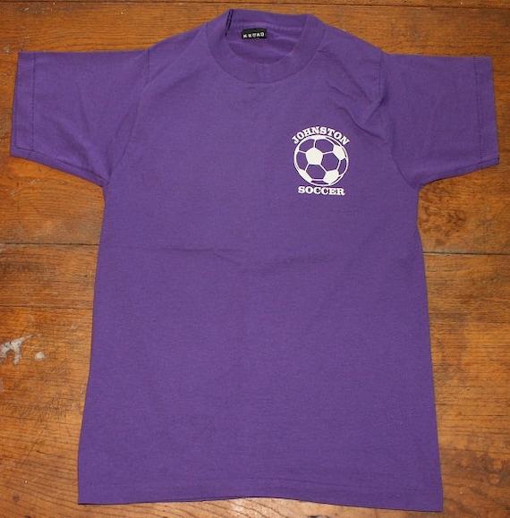 Johnston Iowa soccer number 38 vintage purple t-shirt Small/XS